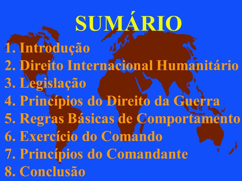 SUMÁRIO 1. Introdução 2. Direito Internacional Humanitário