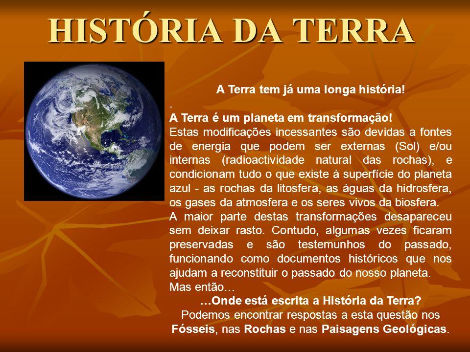 HISTÓRIA DA TERRA A Terra tem já uma longa história! .