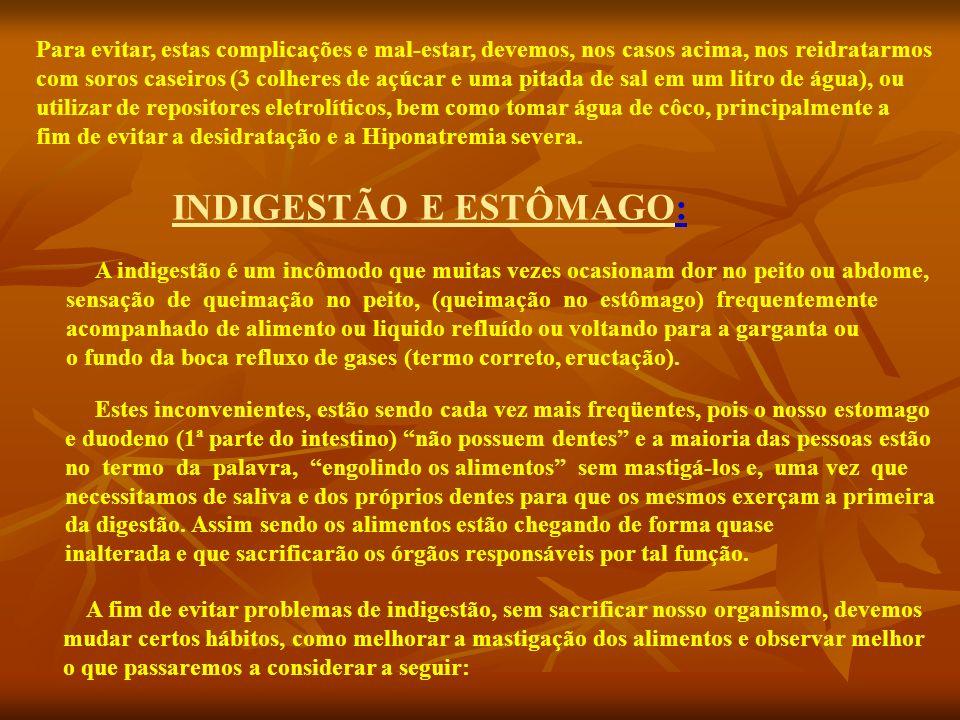 INDIGESTÃO E ESTÔMAGO: