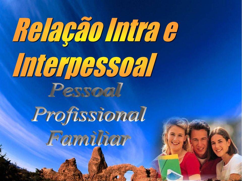 Relação Intra e Interpessoal Pessoal Profissional Familiar