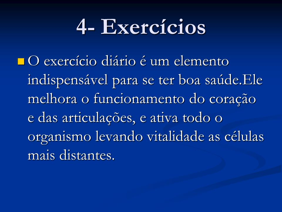 4- Exercícios