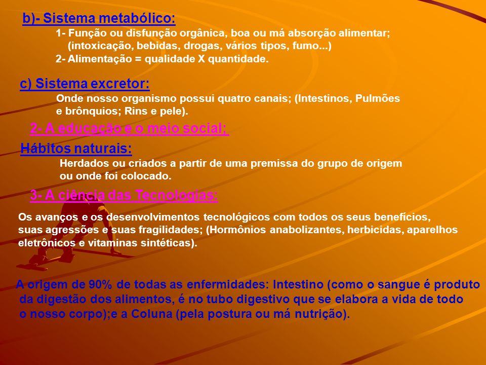b)- Sistema metabólico: