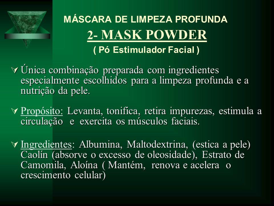 MÁSCARA DE LIMPEZA PROFUNDA 2- MASK POWDER ( Pó Estimulador Facial )