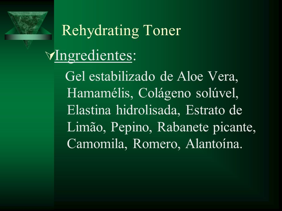 Rehydrating Toner Ingredientes: