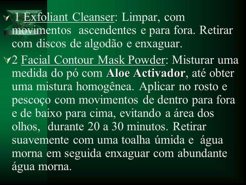 1 Exfoliant Cleanser: Limpar, com movimentos ascendentes e para fora