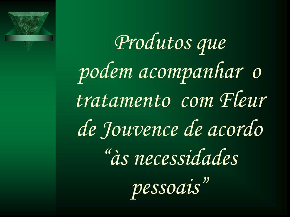 Produtos que podem acompanhar o tratamento com Fleur de Jouvence de acordo às necessidades pessoais
