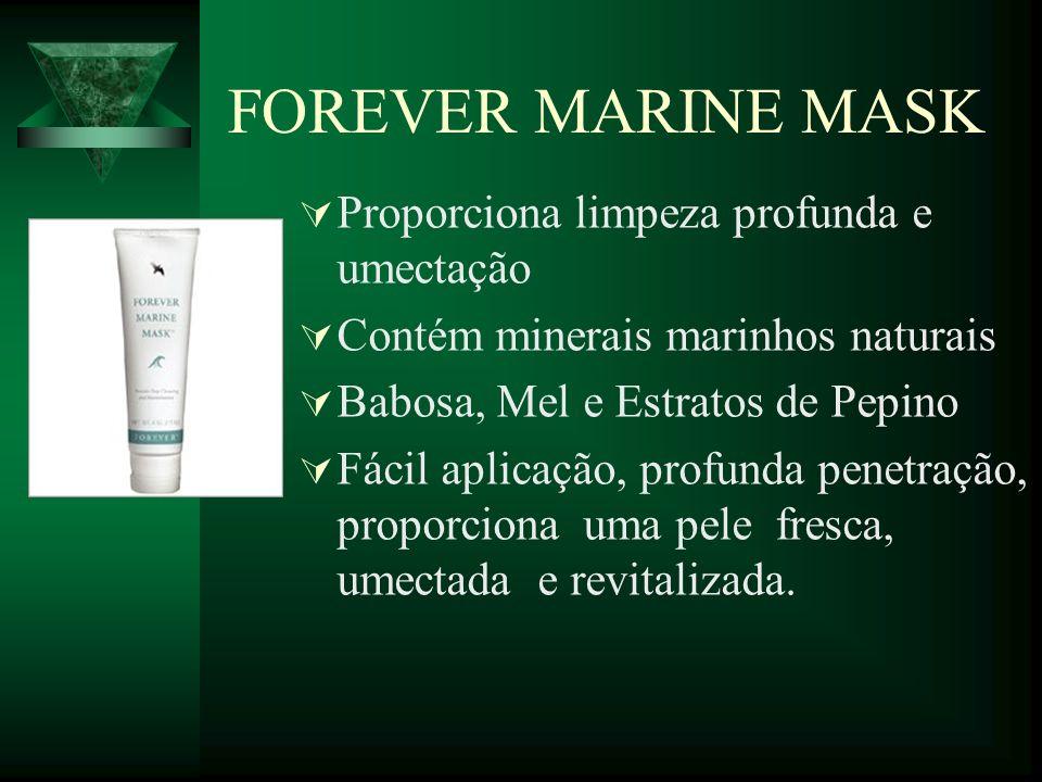 FOREVER MARINE MASK Proporciona limpeza profunda e umectação
