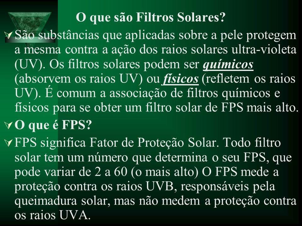 O que são Filtros Solares