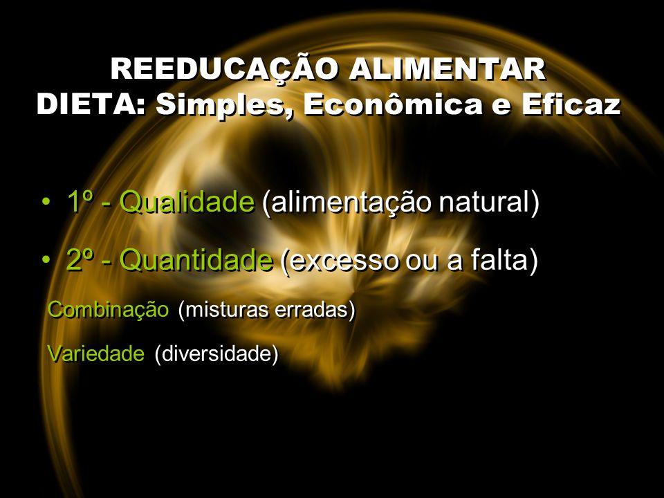 REEDUCAÇÃO ALIMENTAR DIETA: Simples, Econômica e Eficaz