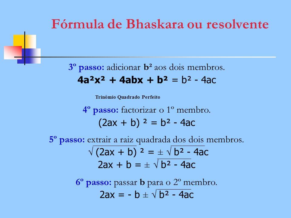 Fórmula de Bhaskara ou resolvente