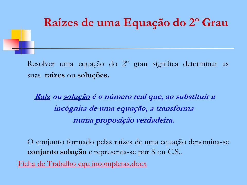 Raízes de uma Equação do 2º Grau