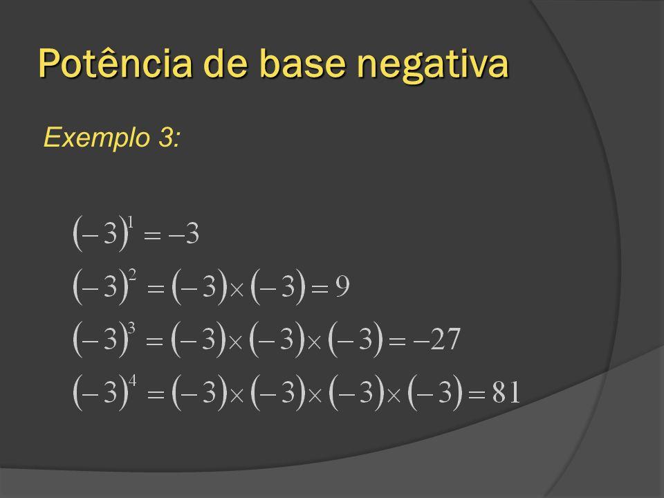 Potência de base negativa