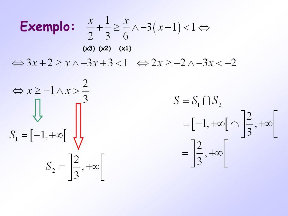 Exemplo: (x3) (x2) (x1)