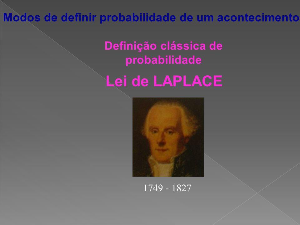 Definição clássica de probabilidade