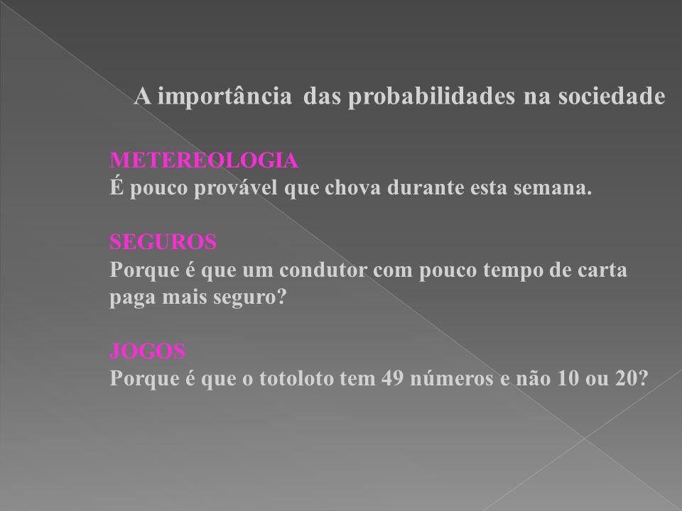 A importância das probabilidades na sociedade