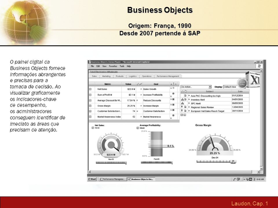 Business Objects Origem: França, 1990 Desde 2007 pertende á SAP