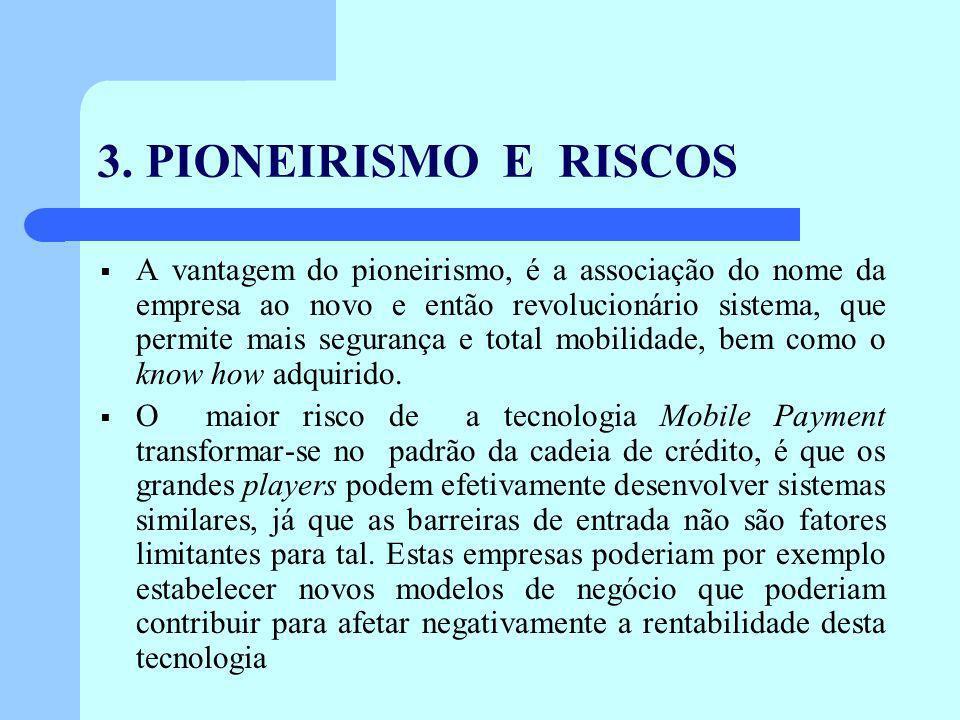 3. PIONEIRISMO E RISCOS