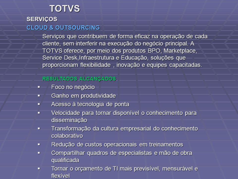 TOTVS SERVIÇOS CLOUD & OUTSOURCING