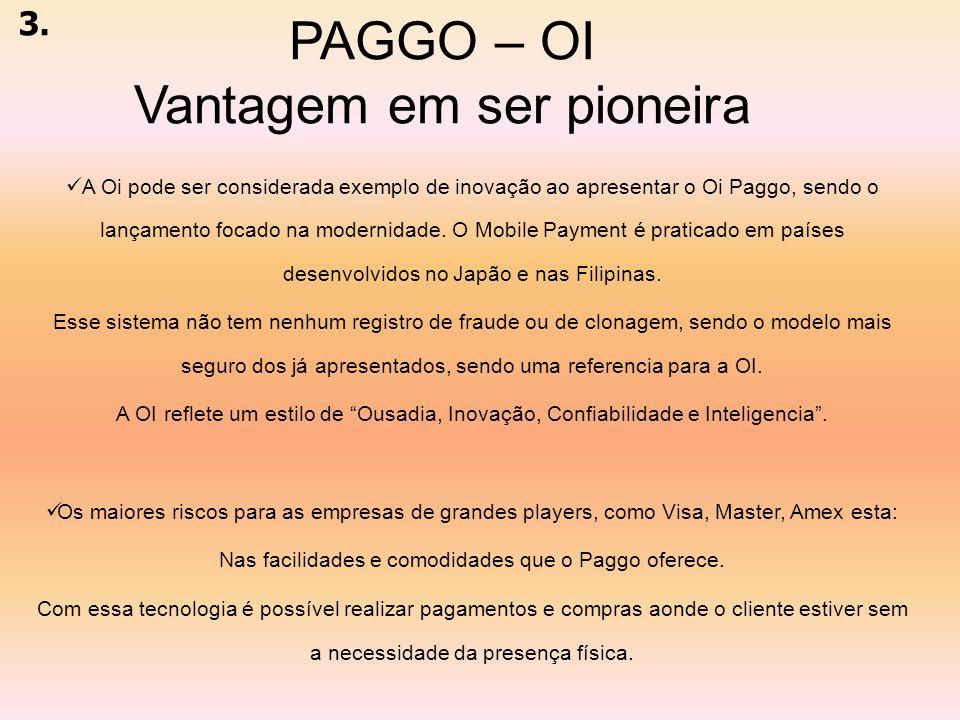 PAGGO – OI Vantagem em ser pioneira