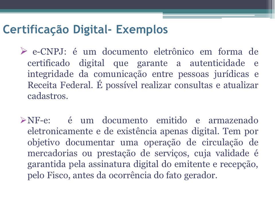 Certificação Digital- Exemplos