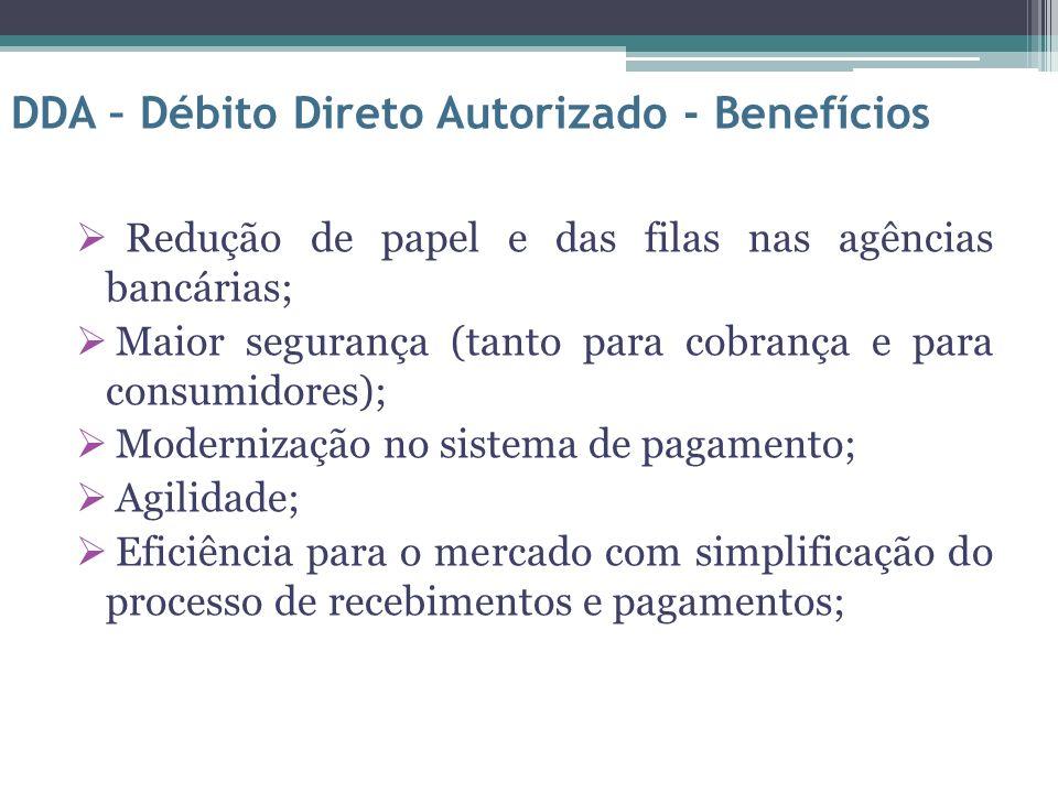DDA – Débito Direto Autorizado - Benefícios