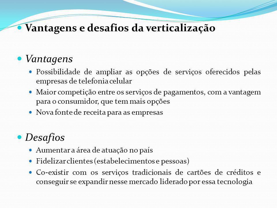 Vantagens e desafios da verticalização Vantagens