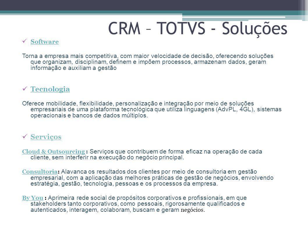 CRM – TOTVS - Soluções Tecnologia Serviços Software