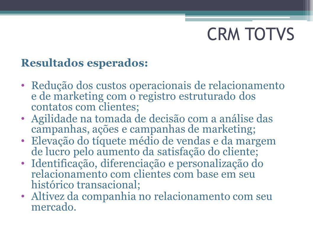 CRM TOTVS Resultados esperados: