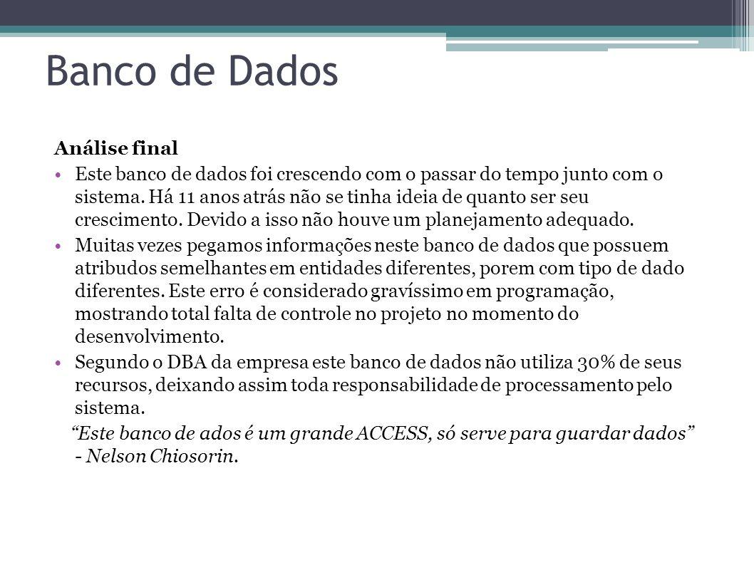 Banco de Dados Análise final
