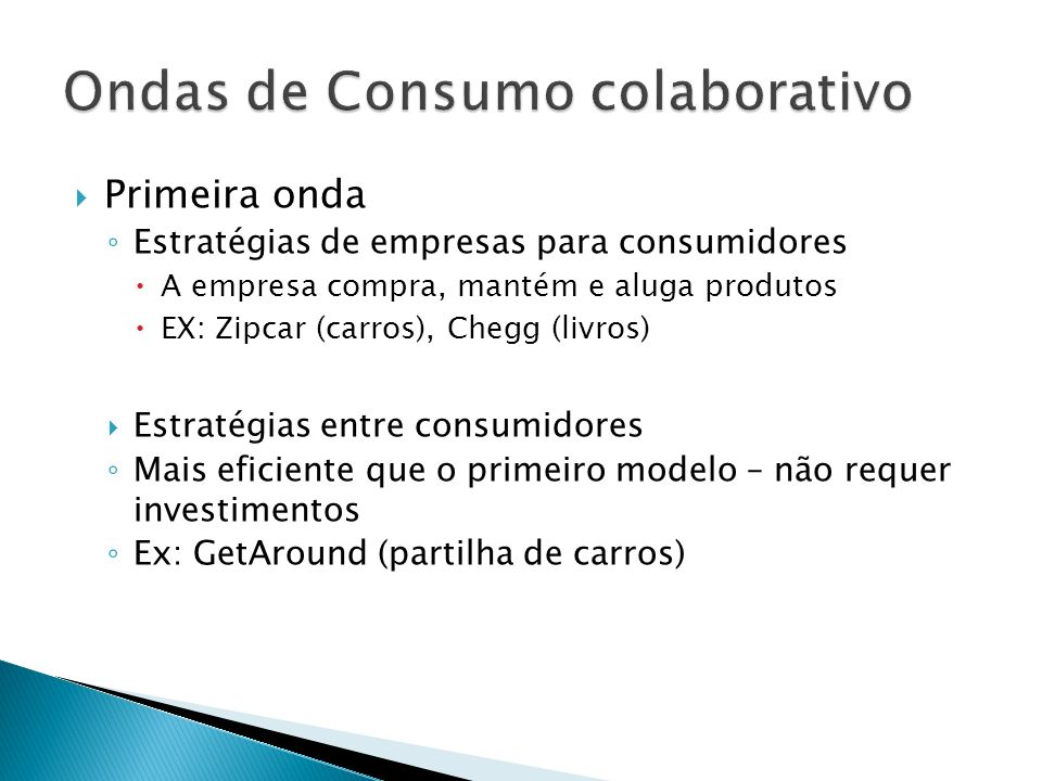 Ondas de Consumo colaborativo