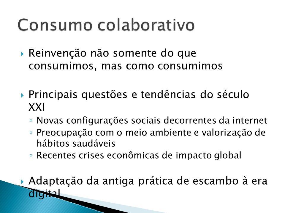 Consumo colaborativo Reinvenção não somente do que consumimos, mas como consumimos. Principais questões e tendências do século XXI.