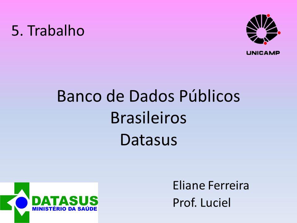 Banco de Dados Públicos Brasileiros Datasus