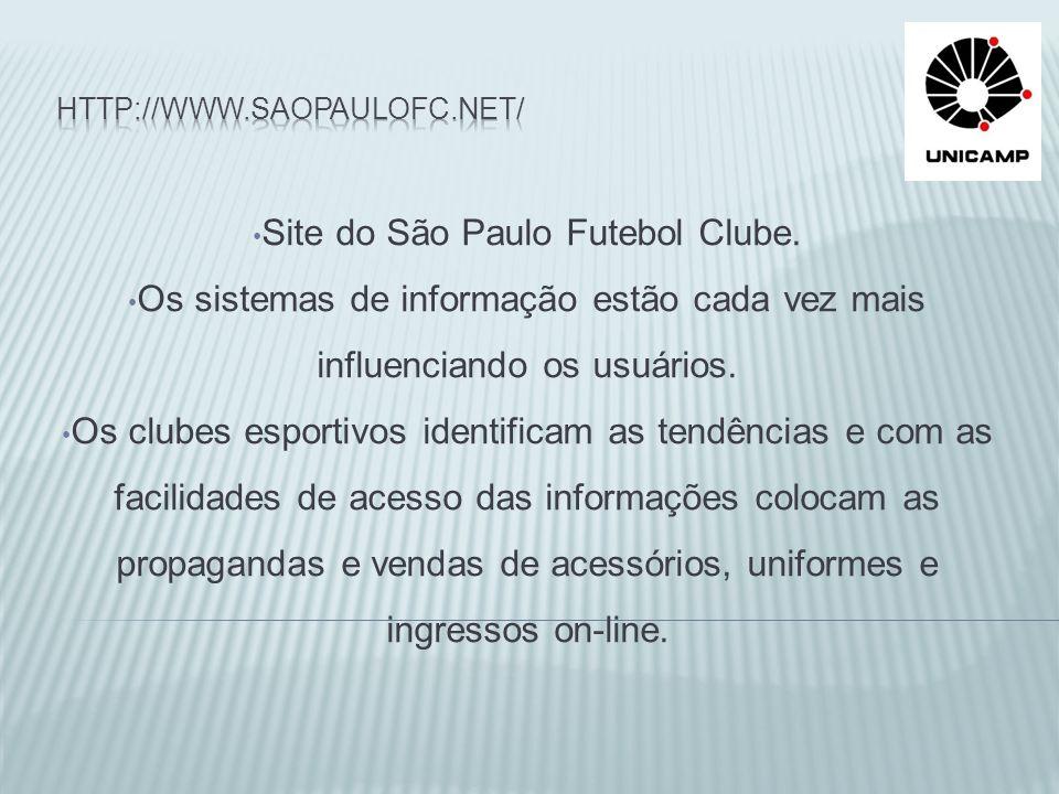 Site do São Paulo Futebol Clube.