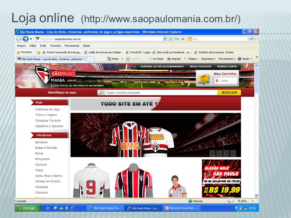 Loja online (http://www.saopaulomania.com.br/)