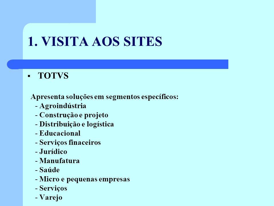 1. VISITA AOS SITES TOTVS - Agroindústria - Construção e projeto