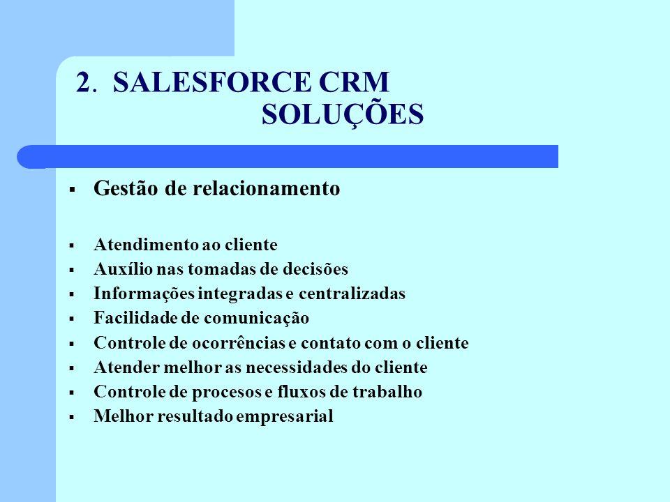2. SALESFORCE CRM SOLUÇÕES