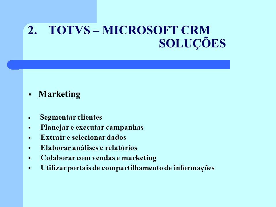 TOTVS – MICROSOFT CRM SOLUÇÕES