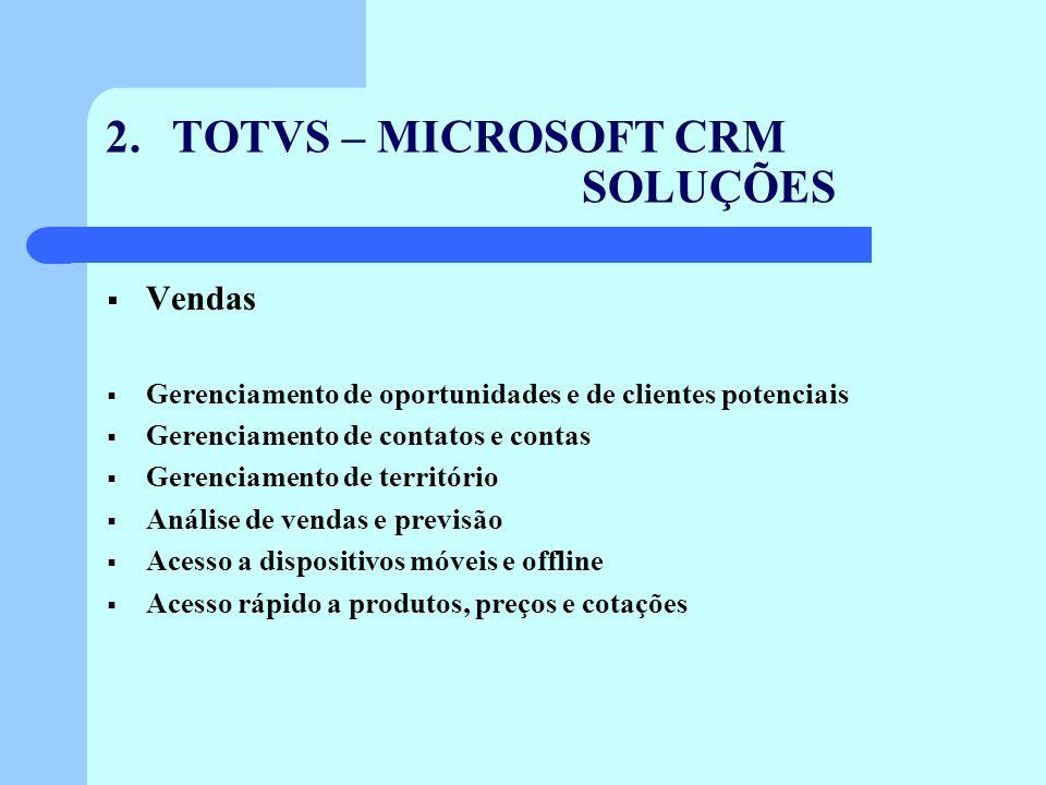 2. TOTVS – MICROSOFT CRM SOLUÇÕES
