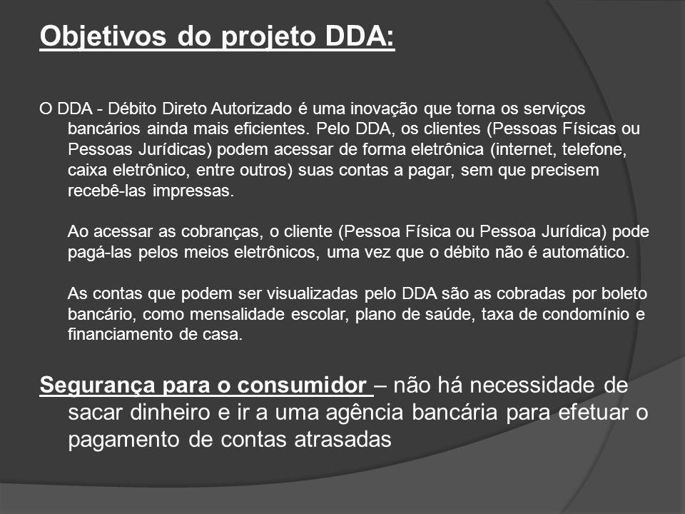 Objetivos do projeto DDA: