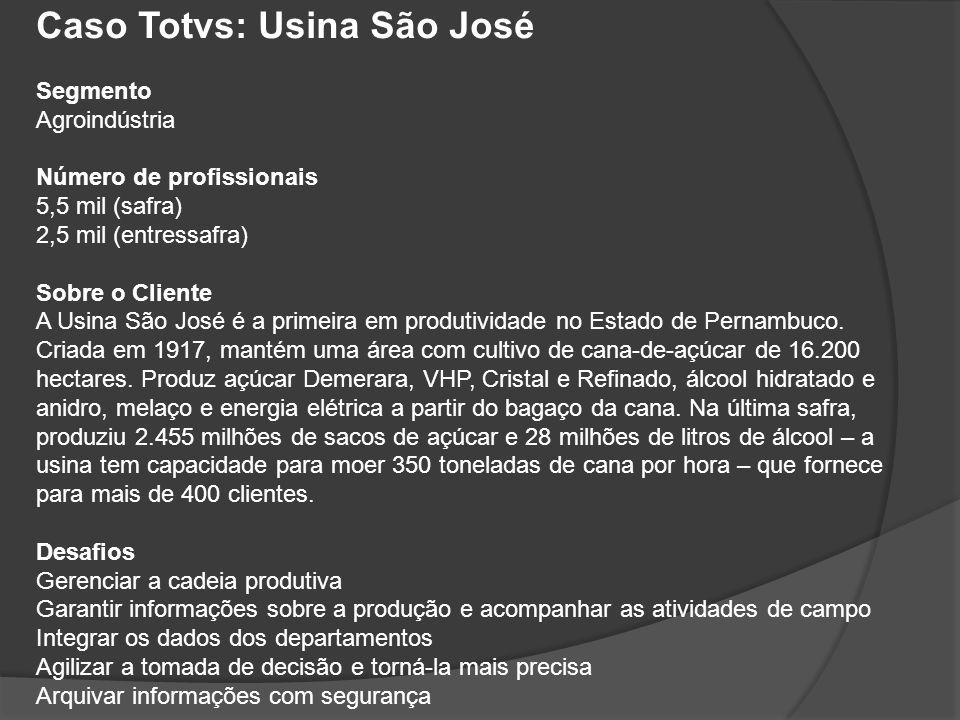 Caso Totvs: Usina São José