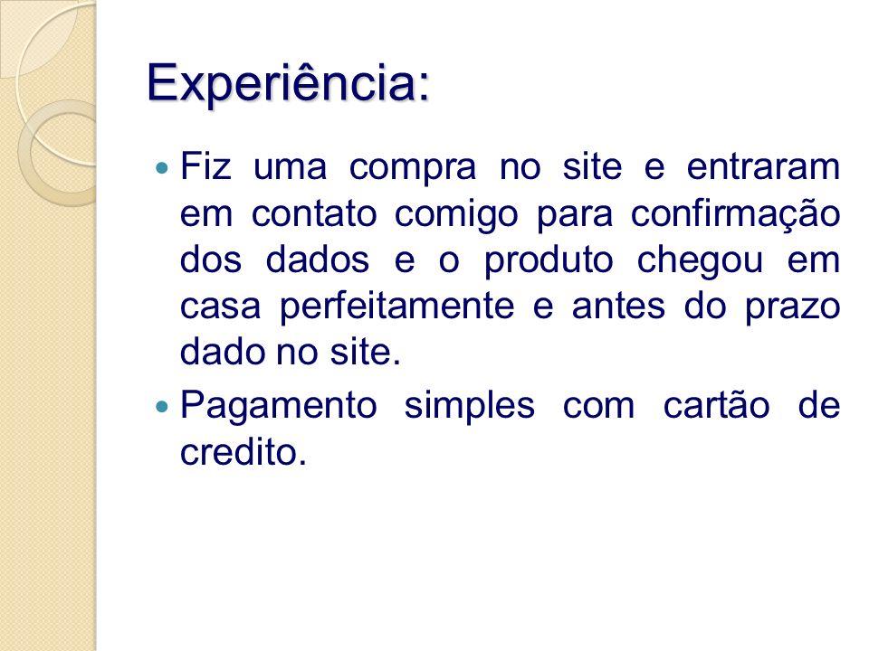 Experiência: