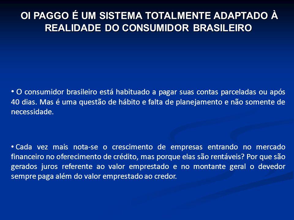 OI PAGGO É UM SISTEMA TOTALMENTE ADAPTADO À REALIDADE DO CONSUMIDOR BRASILEIRO