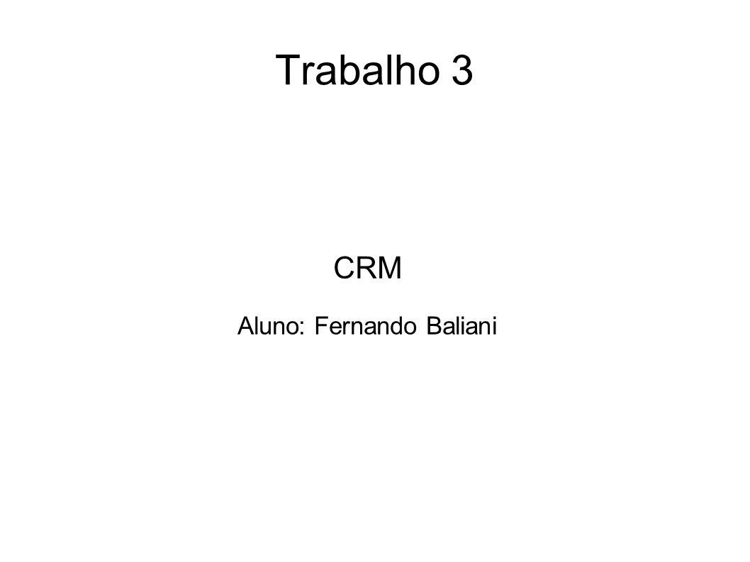 CRM Aluno: Fernando Baliani