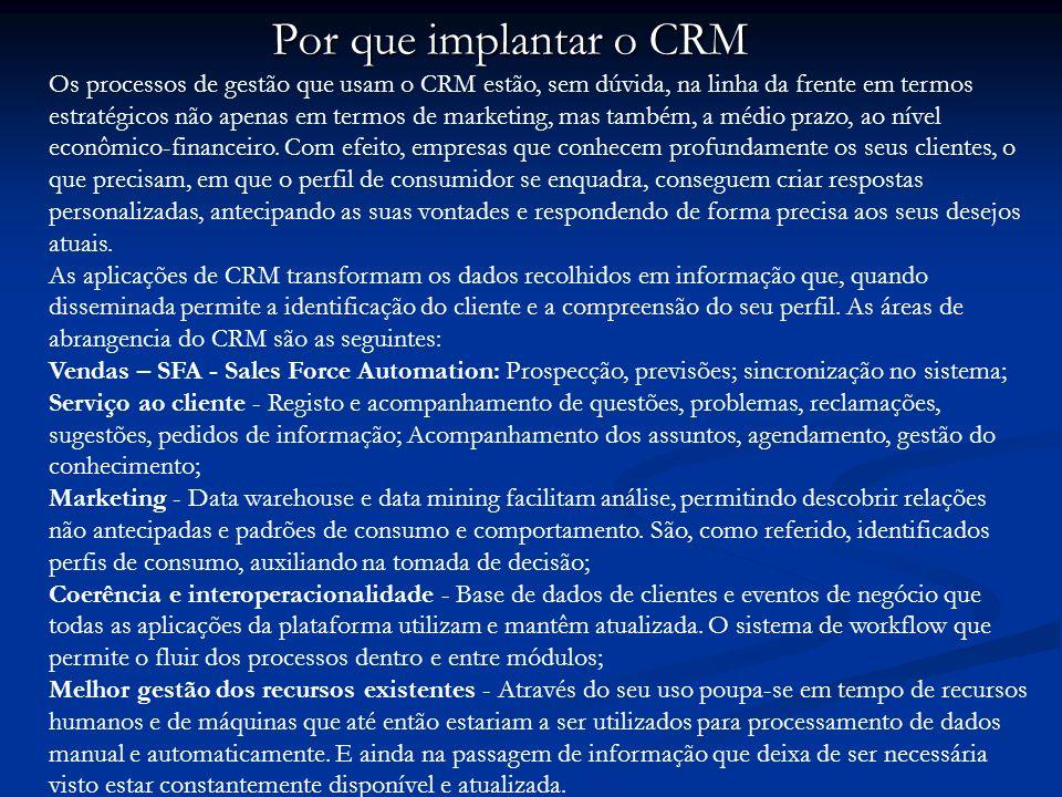 Por que implantar o CRM