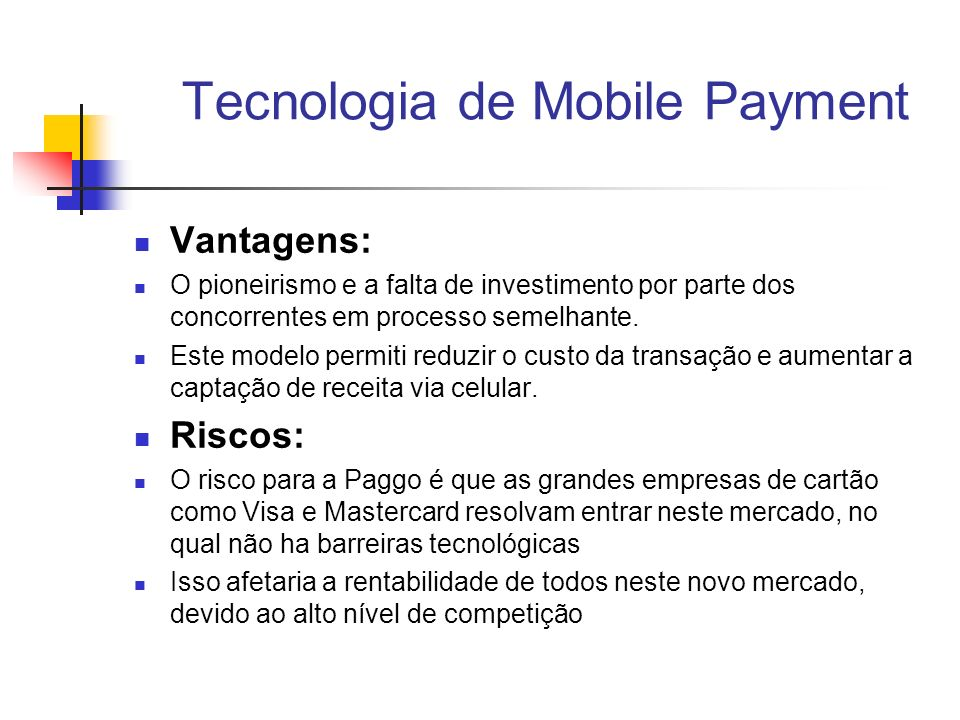 Tecnologia de Mobile Payment