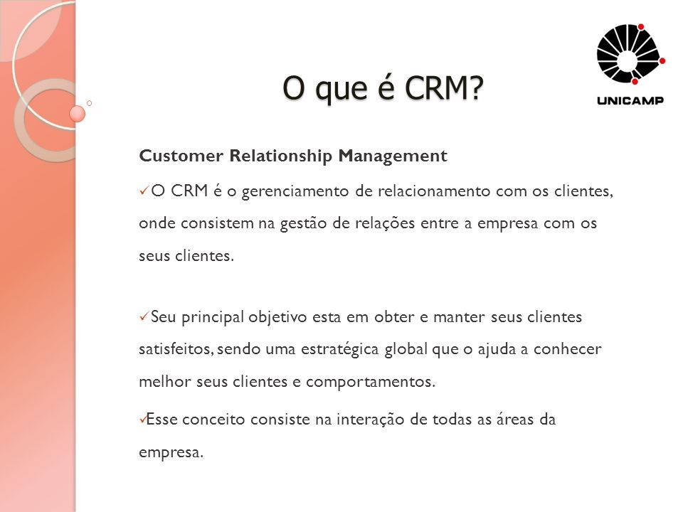 O que é CRM Customer Relationship Management