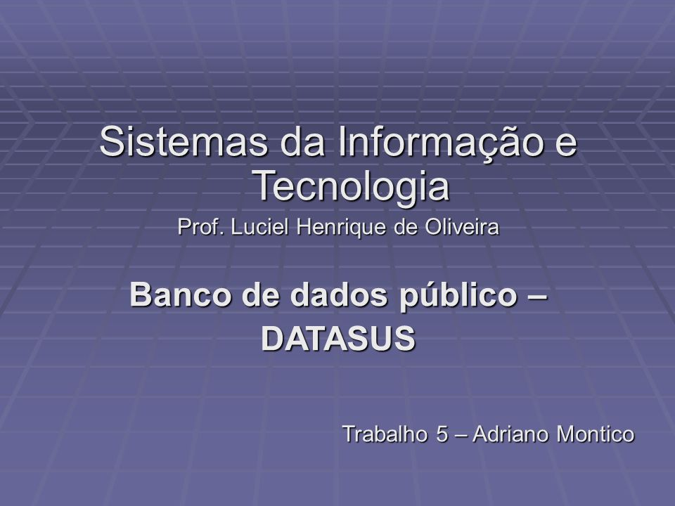 Banco de dados público –