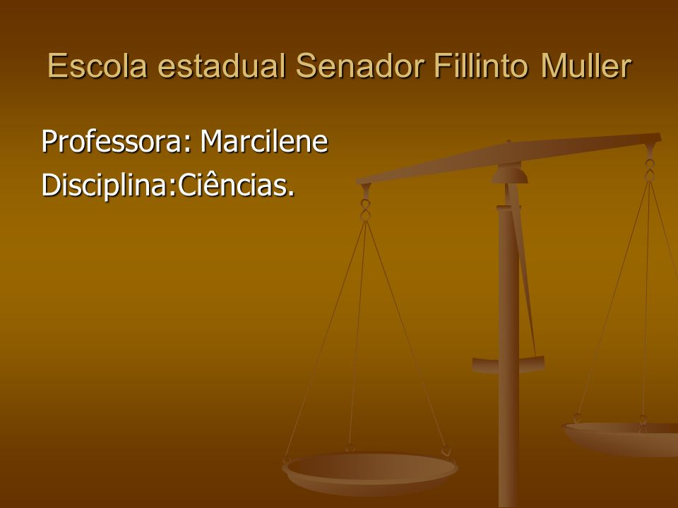 Escola estadual Senador Fillinto Muller