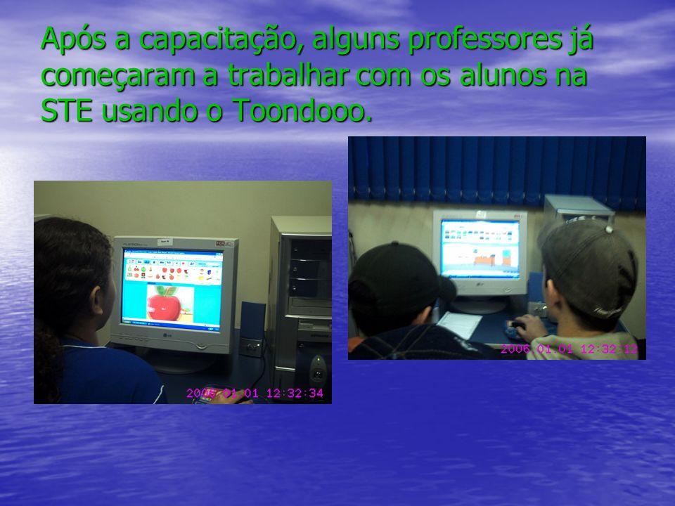 Após a capacitação, alguns professores já começaram a trabalhar com os alunos na STE usando o Toondooo.