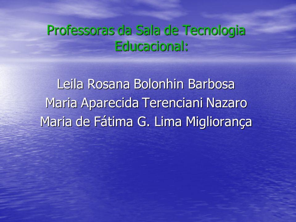 Professoras da Sala de Tecnologia Educacional: